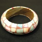 Designer Fashion Bracelet Bangle Wood Plastic Female Adult Multicolor