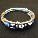 Designer Fashion Bracelet Bangle Metal Stones Female Adult Silvers/Blues