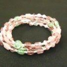 Designer Fashion Bracelet Beaded/Strand Female Adult Pinks/Greens