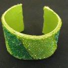 Designer Fashion Bracelet Cuff Plastic Female Adult Greens