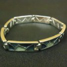 Designer Fashion Bracelet Chain/Link Metal Female Adult Silver/Greens
