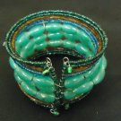 Designer Fashion Bracelet Beaded/Strand Female Adult Green/Brown/Blue