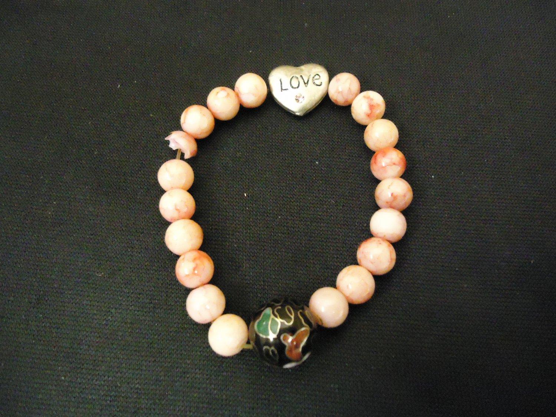 Designer Fashion Bracelet Strand/String Plastic Female Adult Pinks/Blacks