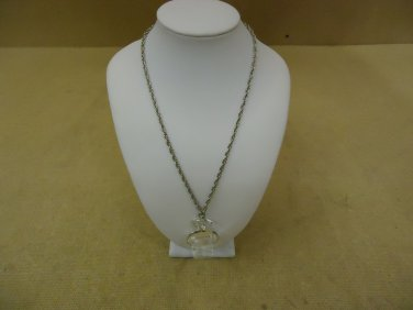Designer Fashion Necklace 18in L Chain/Link Metal Female Adult Silver