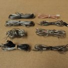 Name Brand Speaker Wire Light Guage Black/Clear 9 Pieces-Assorted Lengths