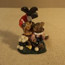 K's Collection Golf Bear Figurine 2 1/2in L x 3in W x 4in H Resin