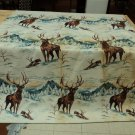 Designer Blanket Deer Images 72in x 88in Snow Wilderness Rustic Fleece Vintage