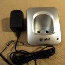 AT&T Handset Charging Base Silver/Black Cradle A