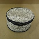 Cover Ups Dish Case 12in Diameter x 5in H White/Blue Floral Plastic
