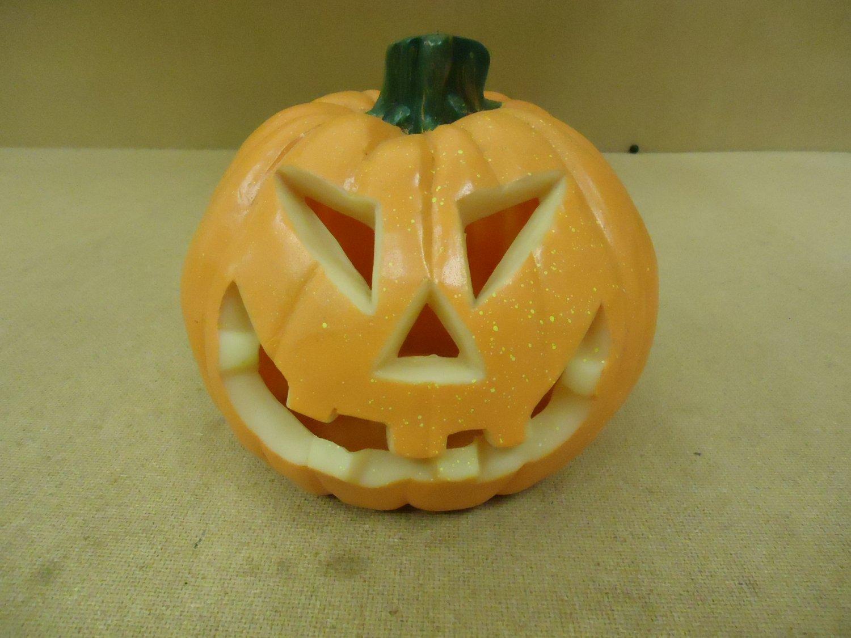 Standard Pumpkin Decorative 8in Diameter x 8in H Orange Halloween Plastic
