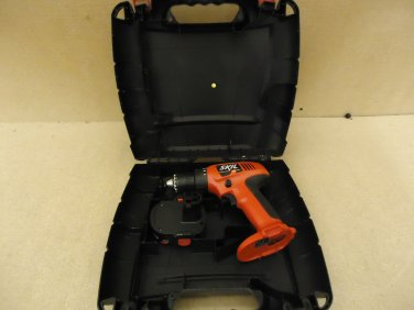 Skil Cordless Drill Red/Black Includes Battery & Case 2468 12V