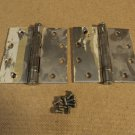 Bommer Hinges Heavy Duty 1 7/8in W x 4 1/2in L Silver Set Of 2 4-Hole Metal