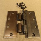 Heavy Duty Hinges 1 7/8in W x 5in L Antique Brass/Copper Finish Metal