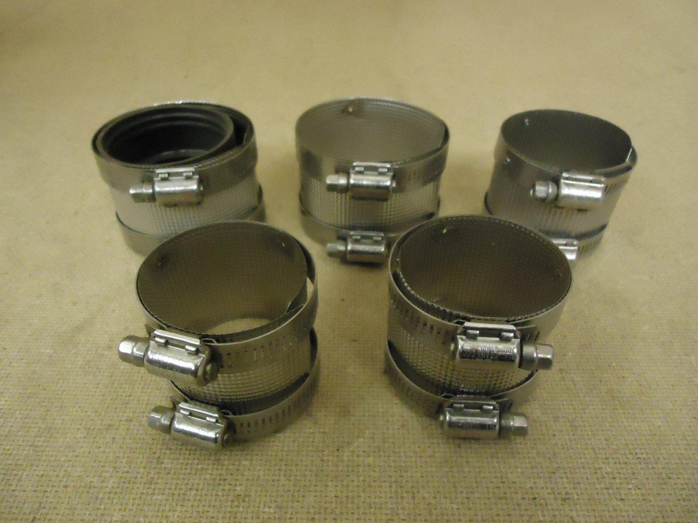 Standard Lot of 5 Pipe Clamps Metal
