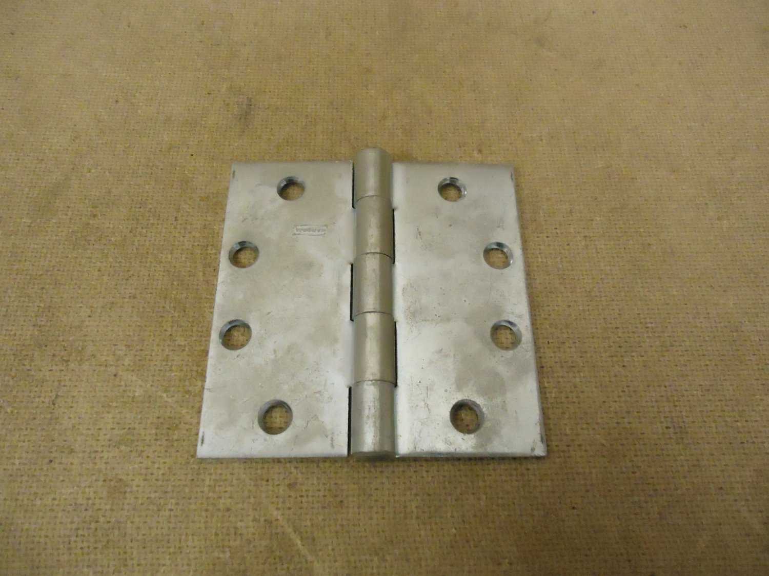 National Door Hinge 4 1/2in H x 2in W Gray Silver 4 Hole Commercial Metal