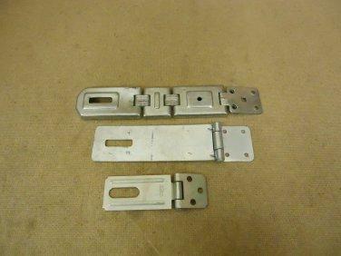 Standard Lot of 3 Hasps Gray Silver Metal