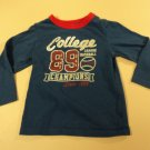 Place Shirt Boys' College Baseball 100% Cotton Kids 2-4 3T Blues Solid