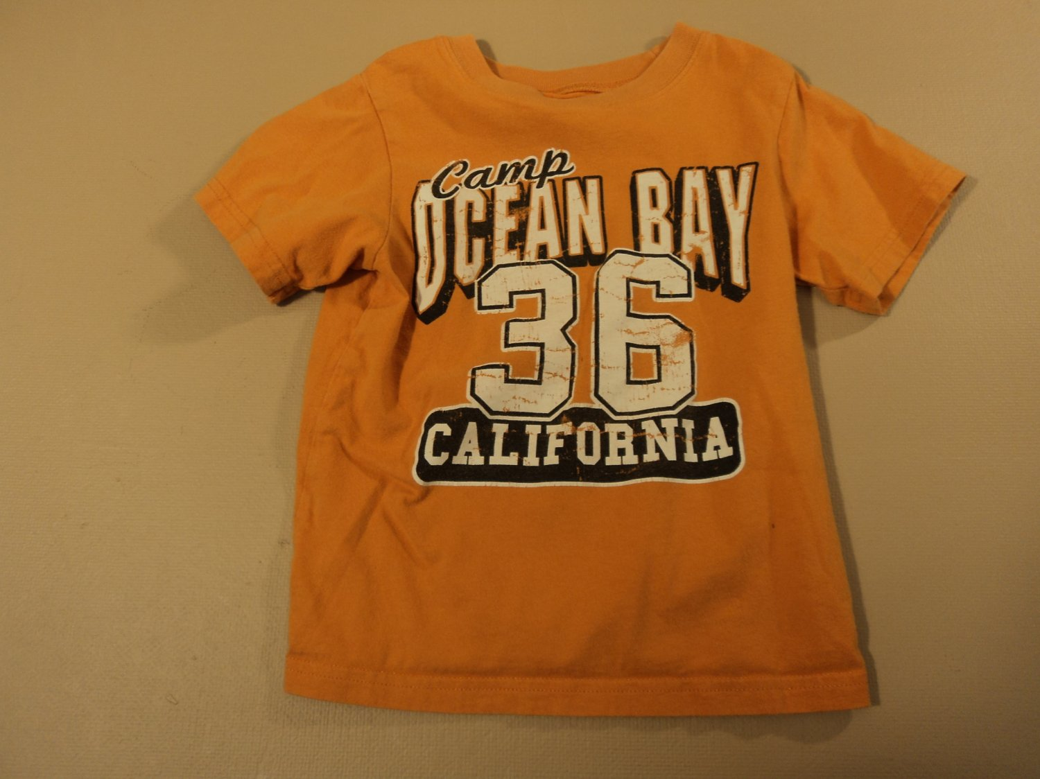 Place T-Shirt Boys' Camp Ocean Bay 100% Cotton Male Kids 2-4 3T Oranges Solid