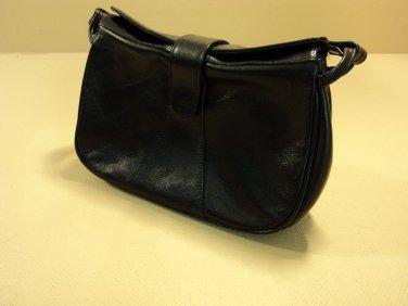 Epitome Purse Shoulder Bag Vintage Genuine Leather Female Adult Blacks Solid
