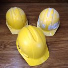 Professional Hard Hats Lot of 3 Yellow/White Plastic