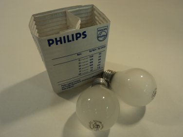 Philips 25 Watt Light Bulbs Pack of 2 Frosted Incandescent HZ-A192-M