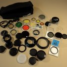 Canon Vivitar Minolta Camera Lens Filters Covers Polarizer Lot of 35 Rings