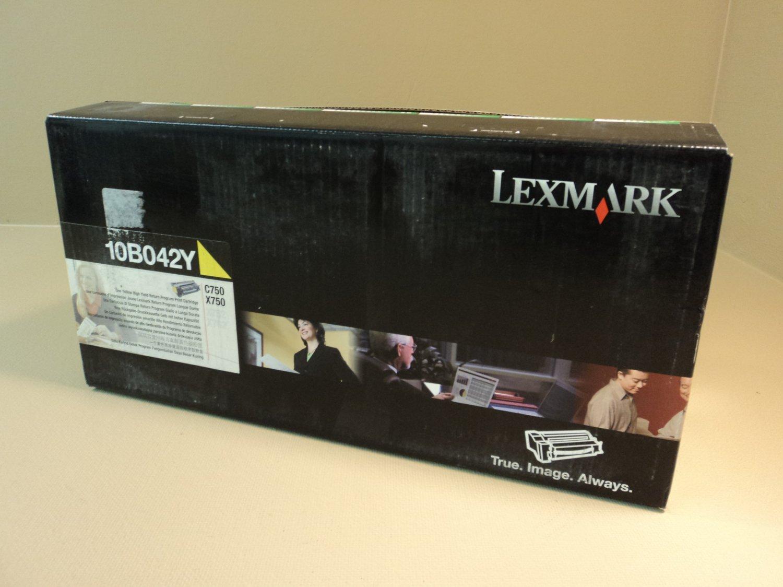 Lexmark High Yield Print Cartridge Yellow C750 X750 Genuine OEM 10B042Y