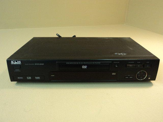 KLH DVD Player 74TA Gray/Black MP3 CD CD-R CD-RW DVD-8350