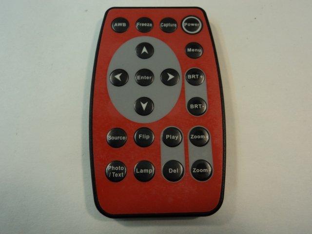 Unknown Maker Remote Control Digital Visualizer Red/Black