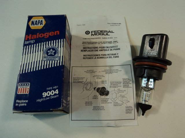 Napa Wix Halogen Lamp High Low Beam Clear Type HB1 Federal Mogul 9004