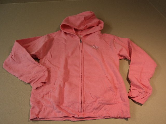 Hanes Hoodie Soft Sweats Cotton Polyester Female Kids XL 14/16 Pinks Solid
