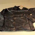 Oscar Sports Jacket Faux Leather Male Adult Large Blacks