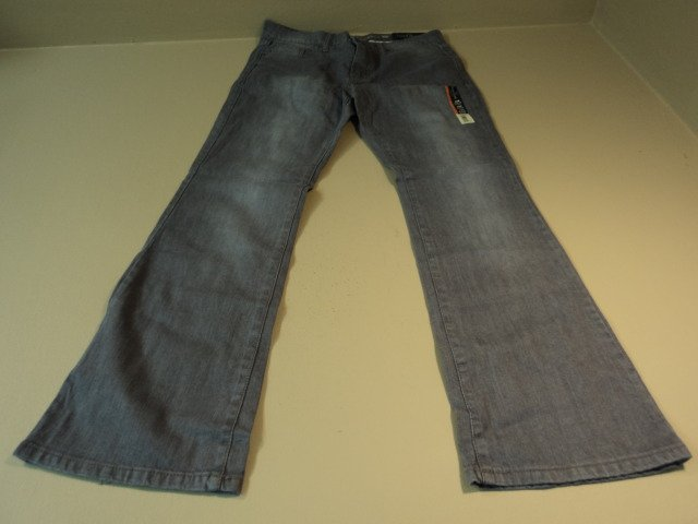 Faded Glory Boot Cut Jeans Cotton Spandex Female Kids 12A Average Grays Solid