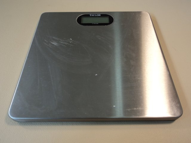 Taylor Lithium Electronic Digital Scale Black/Gray 1.3in Blue Backlight 7404