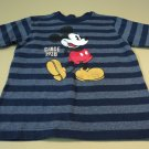 Disney Store Boys T-Shirt Mikey Mouse Cotton Polyester 4XS Blues Striped