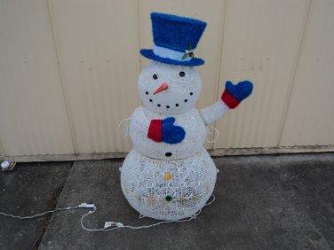 Outdoor Snowman Lights Everstar 4 foot twinkling led snowman 150 lights indoor outdoor 673673 workwithnaturefo