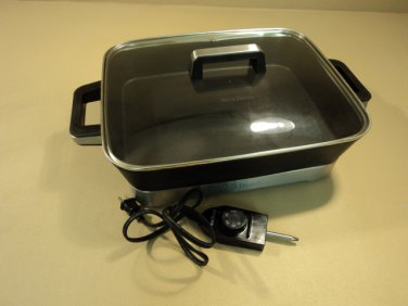 WestBend Non Stick Electric Skillet 15in x 12in x 2 3/4in Fold Out Legs 72400L
