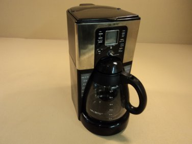 Mr Coffee Sunbeam 12 Cup Programmable Coffee Maker B No Mess Carafe FTX41CP