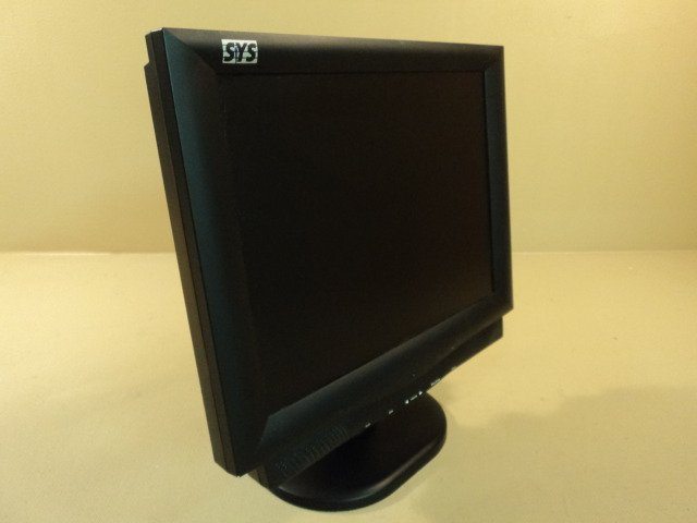 SYS Technology LCD Color Flat Monitor 15 Inch 100-240VAC 12V 3.0A 15CSS
