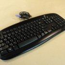 Logitech Deluxe Computer Keyboard PS2 Black PS/2 Y-SU61 868026-0403