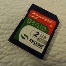 Sycron Mini SD Card 2GB With Case SDC2G