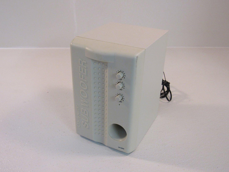 Unbranded/Generic Computer Sub Woofer 5in Multimedia Gray LK-5000 Vintage