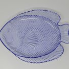 Unbranded/Generic Fish Design Platter Plate 11in L x 9in W Transparent Purple