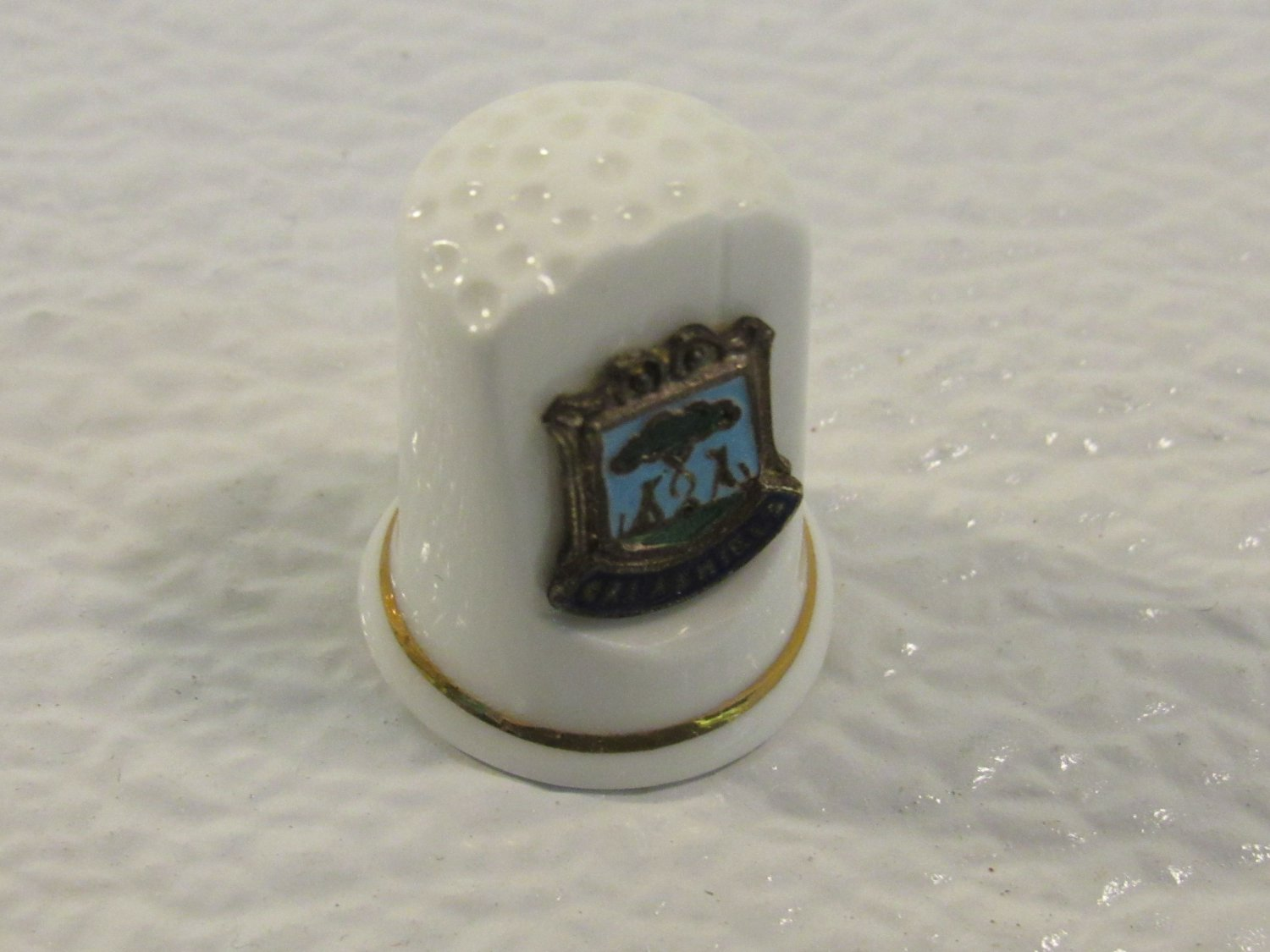 Exquisite Decorative Thimble Galashiels 1in x 1in White Vintage Fine Bone China