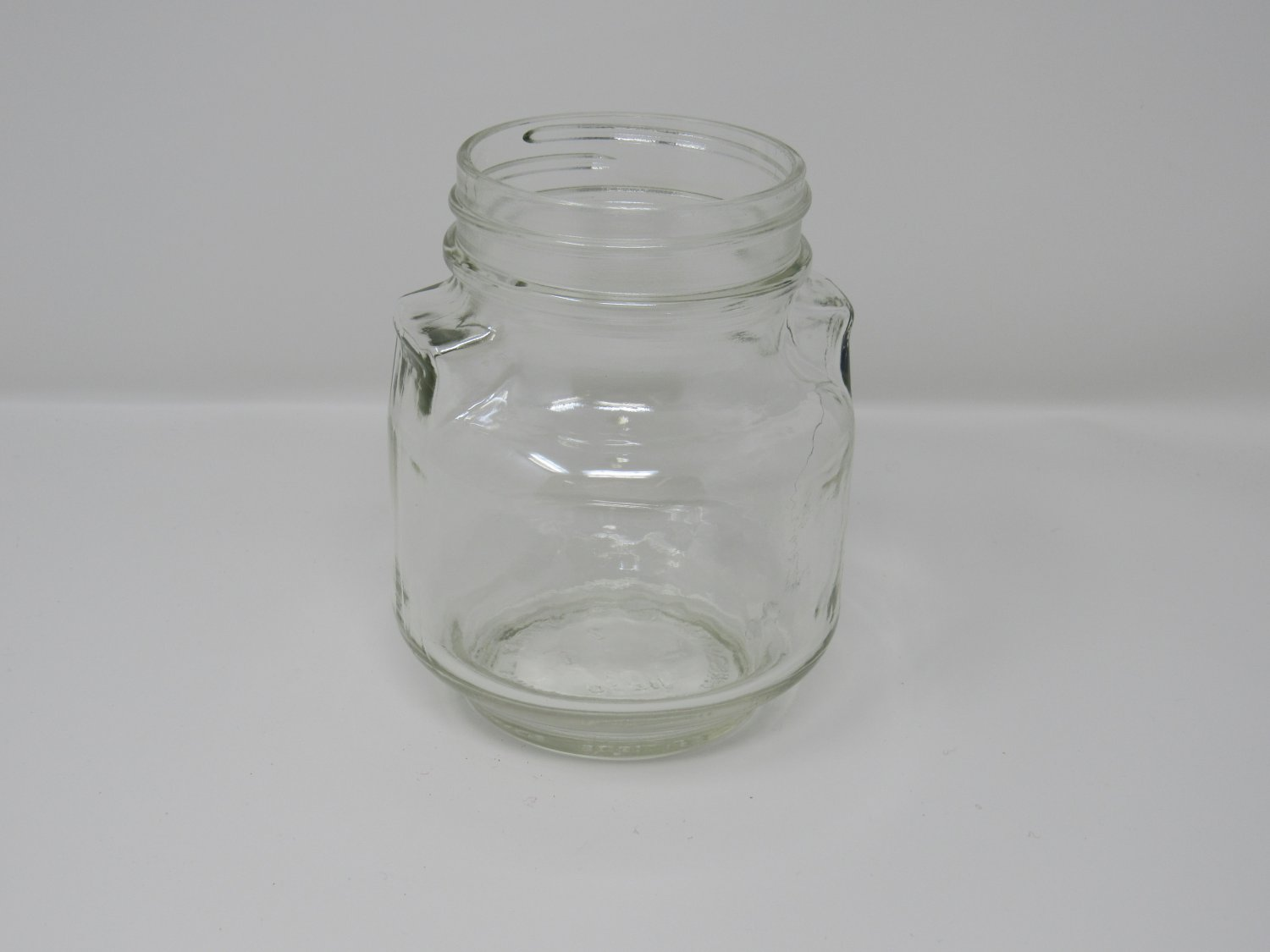 Consumers Glass Screw Top Jar 4in L x 4in W x 5in H Clear Vintage Glass