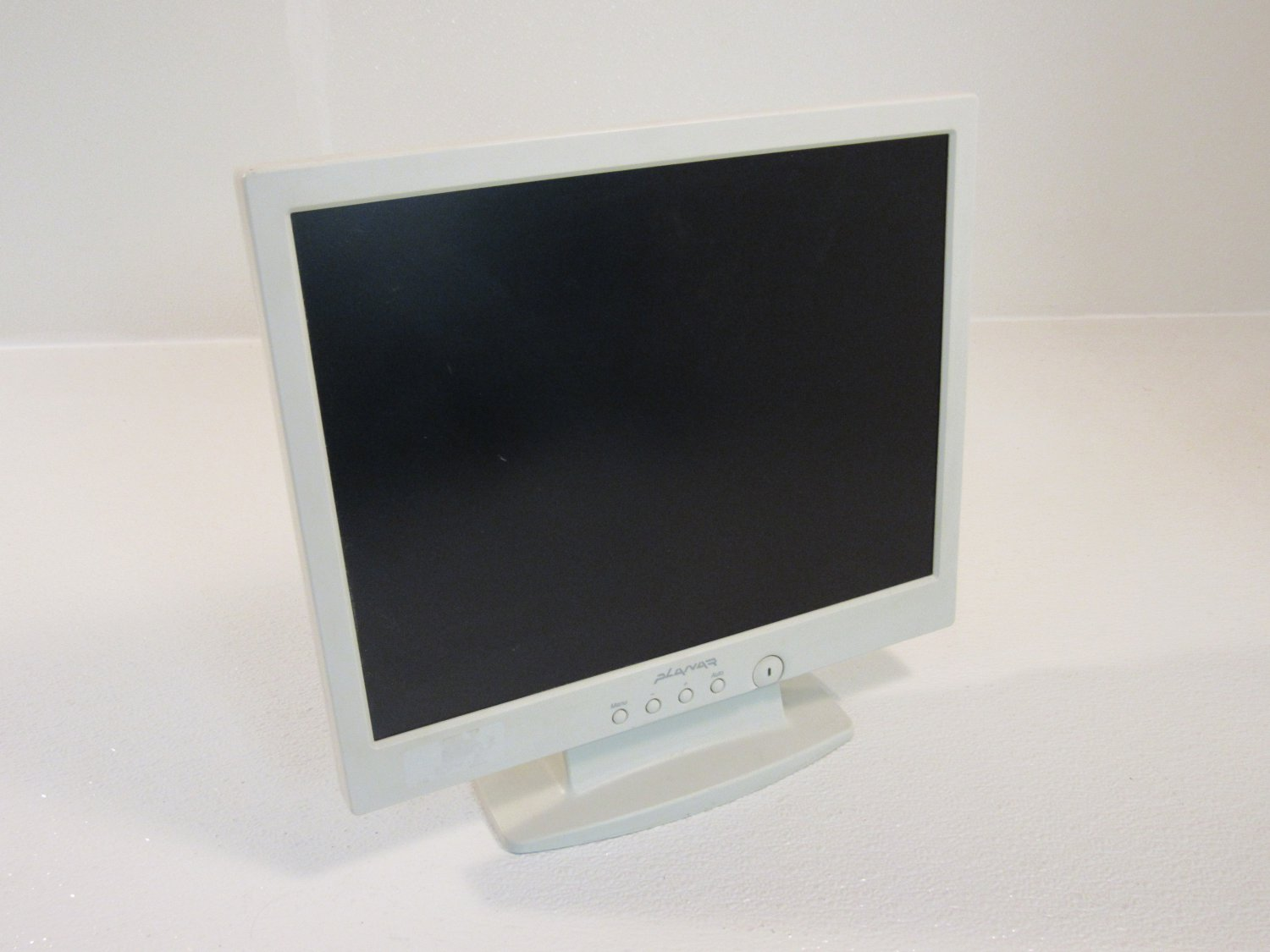 Planar 15in Color Flat Screen Monitor LCD White 12V DC 2.1A PL150
