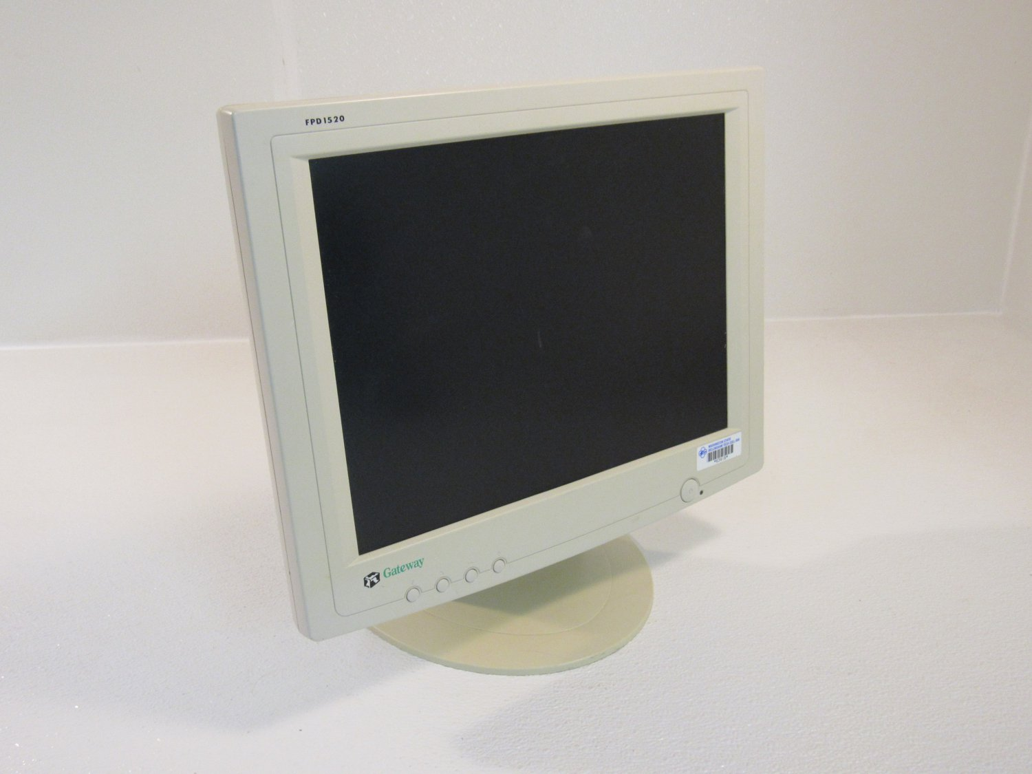 Gateway 15in Color Monitor Flat Screen LCD White 100-240V FPD1520