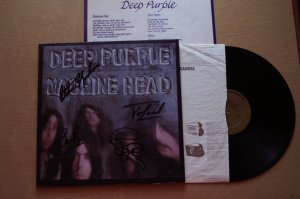 Deep Purple Machine Head Autographed LP COA UACC