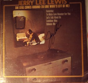 Jerry Lee Lewis Hand Signed Autographed She Still Comes Around LP COA UACC