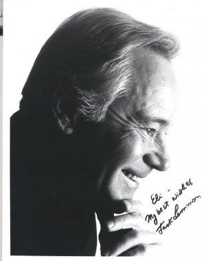 JACK LEMMON Autographed  hand-signed 8x10 B&W photo w/COA UACC
